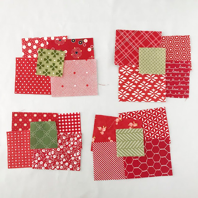 Cute red scraps found at A Bright Corner blog.  You have to see what she did with them!