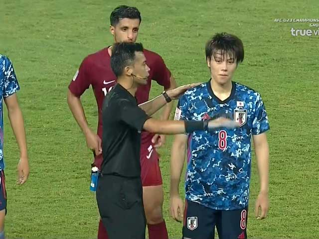 Video U23 Qatar 1-1 U23 Nhật Bản: Thẻ đỏ tranh cãi, khó thoát số phận