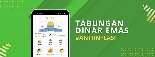 Aplikasi Tabungan Emas Syariah Paydinar