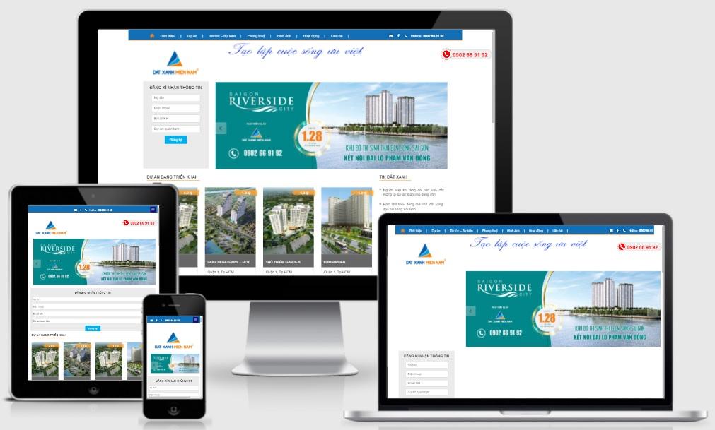 Share template blogspot bất động sản nhà đất - Đất Xanh Miền Nam
