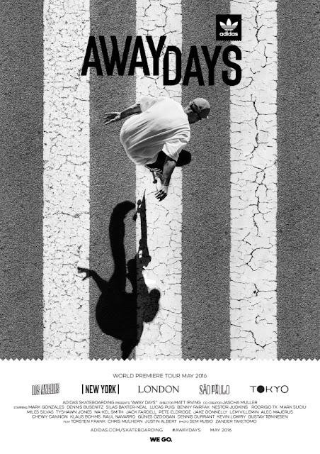 adidas Skateboarding traz premiere de longa metragem Away Days para São Paulo