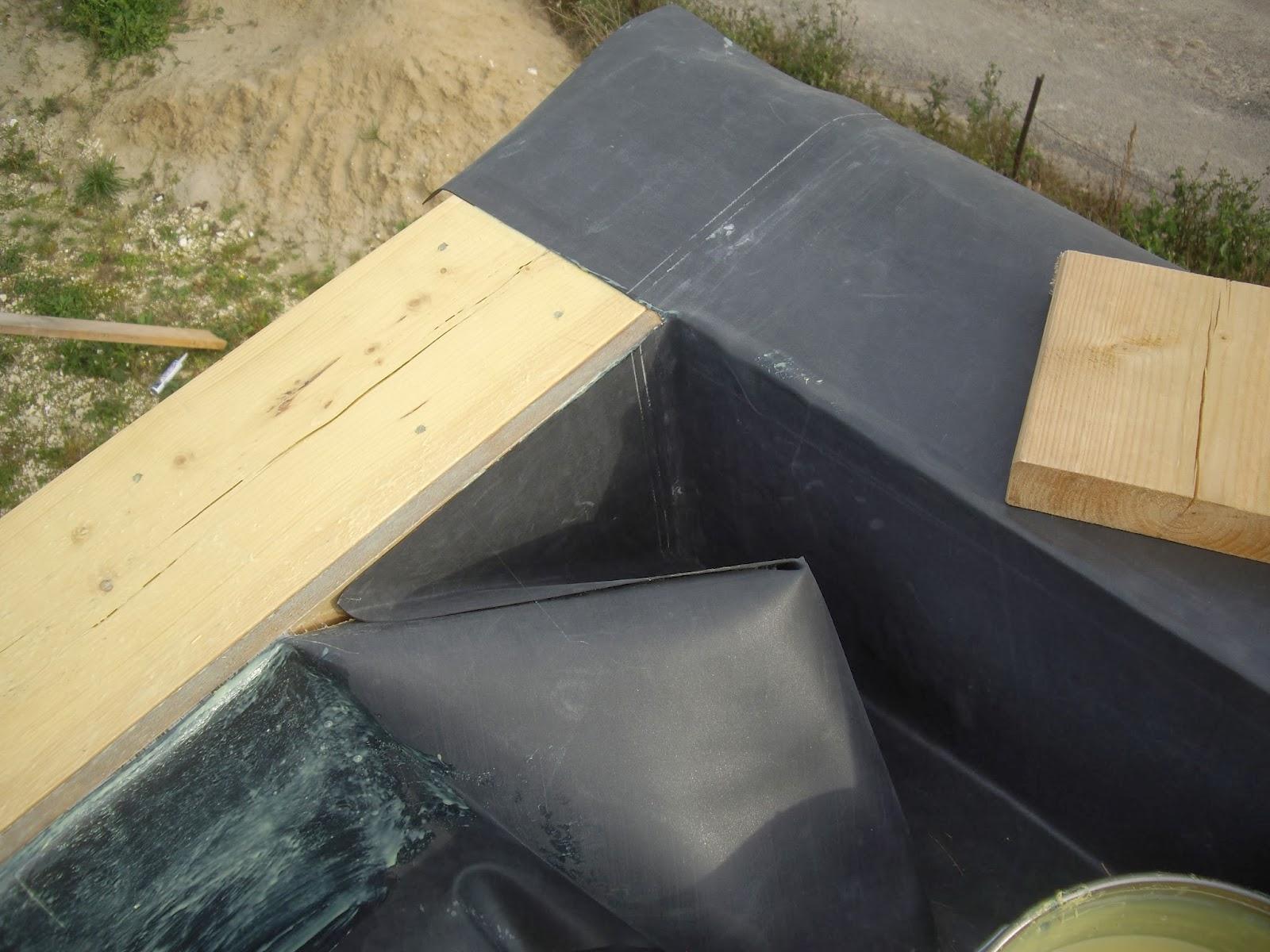 notre auto construction passive maison ossature bois m o b toiture plate epdm garage et. Black Bedroom Furniture Sets. Home Design Ideas
