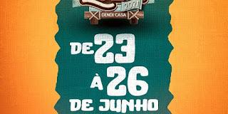 """Santa Luzia mantém tradição, faz """"São João Em Casa"""" nesta quarta-feira e prestigia artistas da terra em lives juninas"""