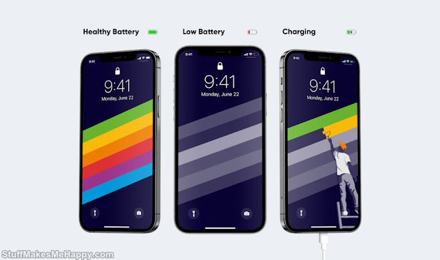 Smartphone Wallpapers Charging Emojis