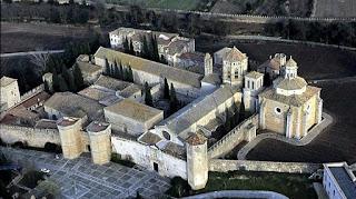 Vista aérea del monasterio de Poblet