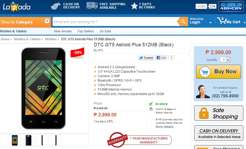 DTC GT5 Astroid Plus at Lazada Philippines