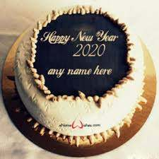 New Year Eve Gifted Cake with Name on Top Surface