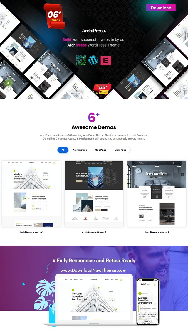 Architecture and Interior Design WordPress Theme