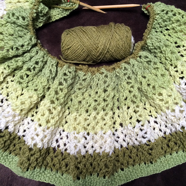 Knit Read Pray Caron Cakes Shawl An Affair Of The Heart