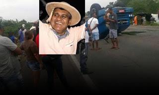 Ex-prefeito de Ipirá e mais duas pessoas morrem em trágico acidente de carro na BA-052
