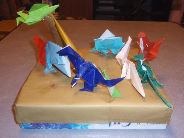 折り紙の箱庭