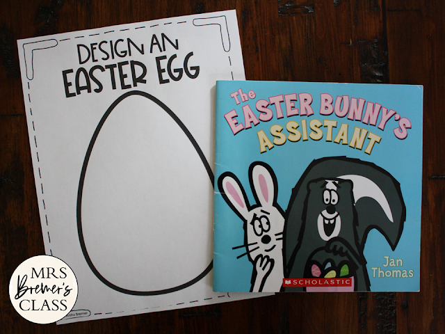 The Easter Bunnys Assistant book study activities unit with Common Core companion activities and a craftivity for Kindergarten and First Grade