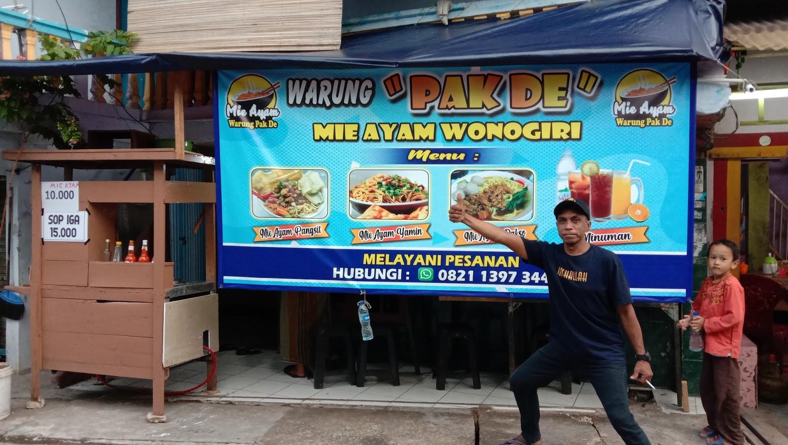 Mie Ayam Wonogiri Warung Pak De