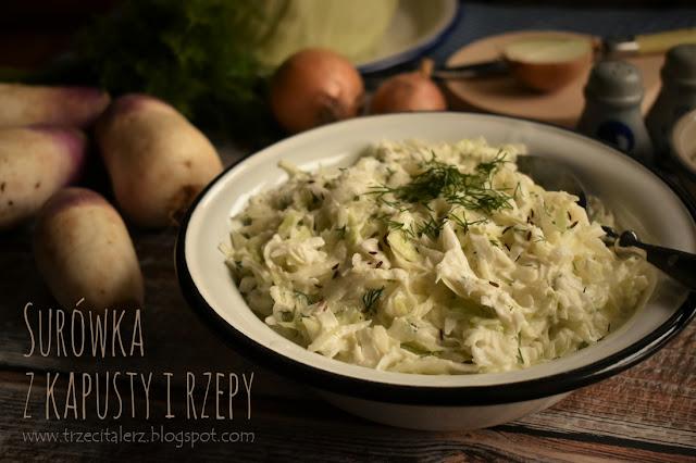 Surówka z kapusty i rzepy - kuchnia podkarpacka