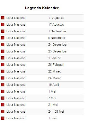 Kalender Pendidikan Tahun Ajaran 2019/2020 Provinsi Lampung