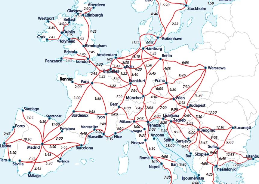 mapa interrail siganme los buenos: BERLIN   MUNICH (ALEMANIA)   BRUJAS (BELGICA) mapa interrail