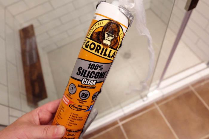 caulking shower with Gorilla brand caulk