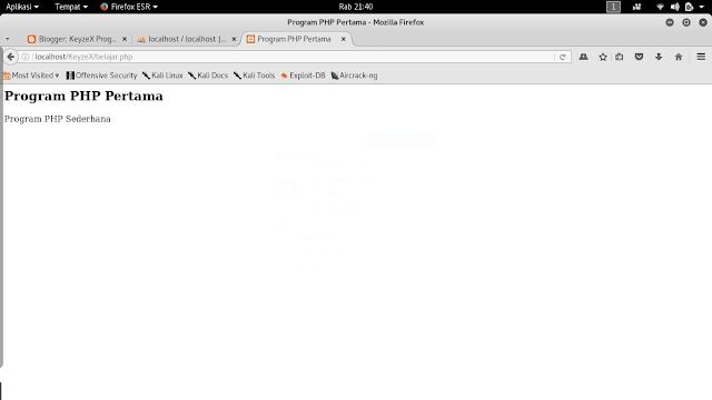 Sintaks Dasar PHP