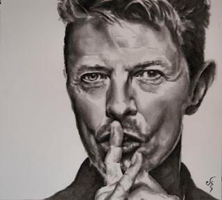 Retrato de David Bowie. Acuarela sobre papel