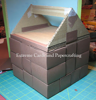 building house advent calendar from boxes