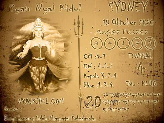 Kode syair Sydney Minggu 18 Oktober 2020 158