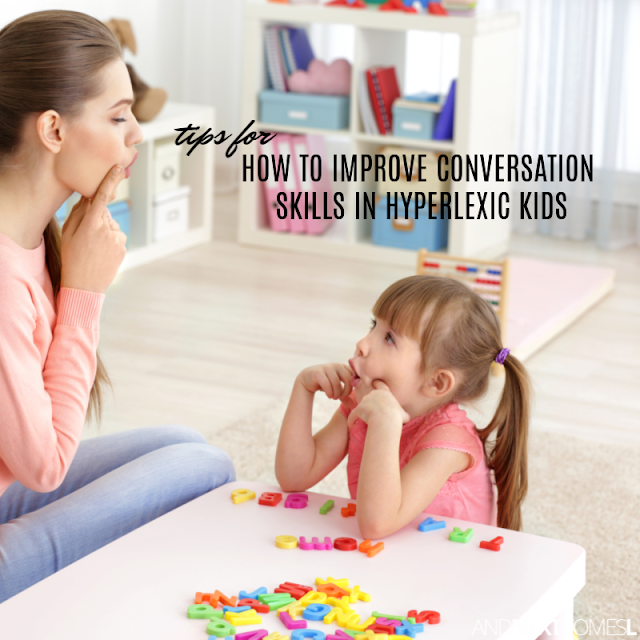 Hyperlexia teaching strategies for improving conversation skills