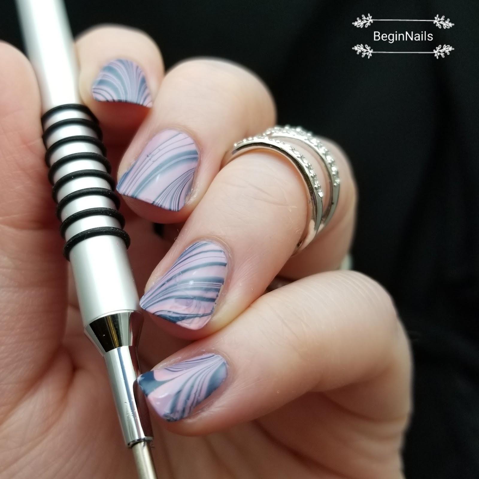 Let\'s Begin Nails: Beauty Bigbang Watermarble Tool Review