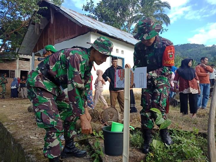 Dandim 1424/Sinjai  Bersama Bupati Dan Kapolres Tanam Pohon di Lokasi TMMD Ke-105  TA 2019