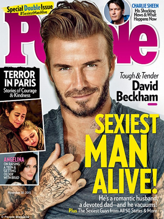 David Beckham Named The People Magazine's Sexiest Man Alive 2015