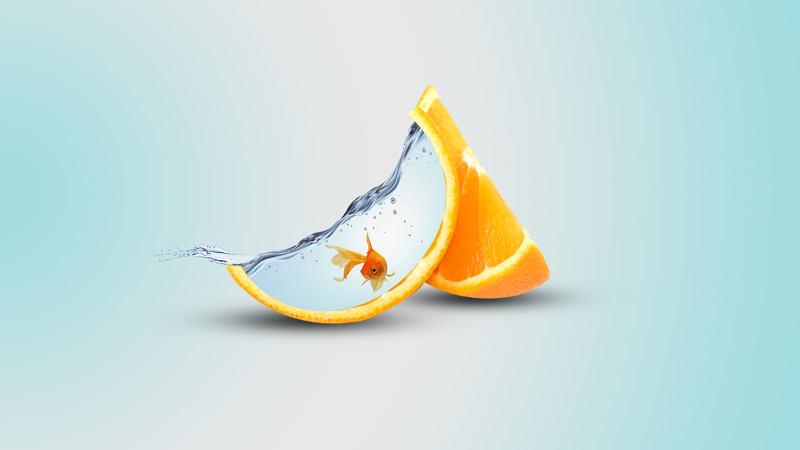 Orange Digital Art 1920 x 1080