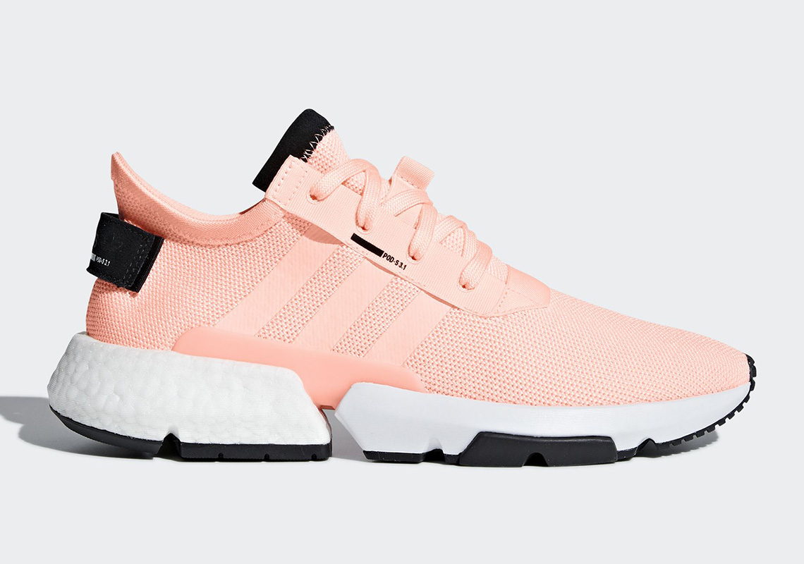 """a980d4bb6a9eab adidas new POD-S3.1 takes a stroll on the sunnier side with a """"Clear  Orange"""" look for the final weeks of Summer. The latest POD colorway  features a pale"""