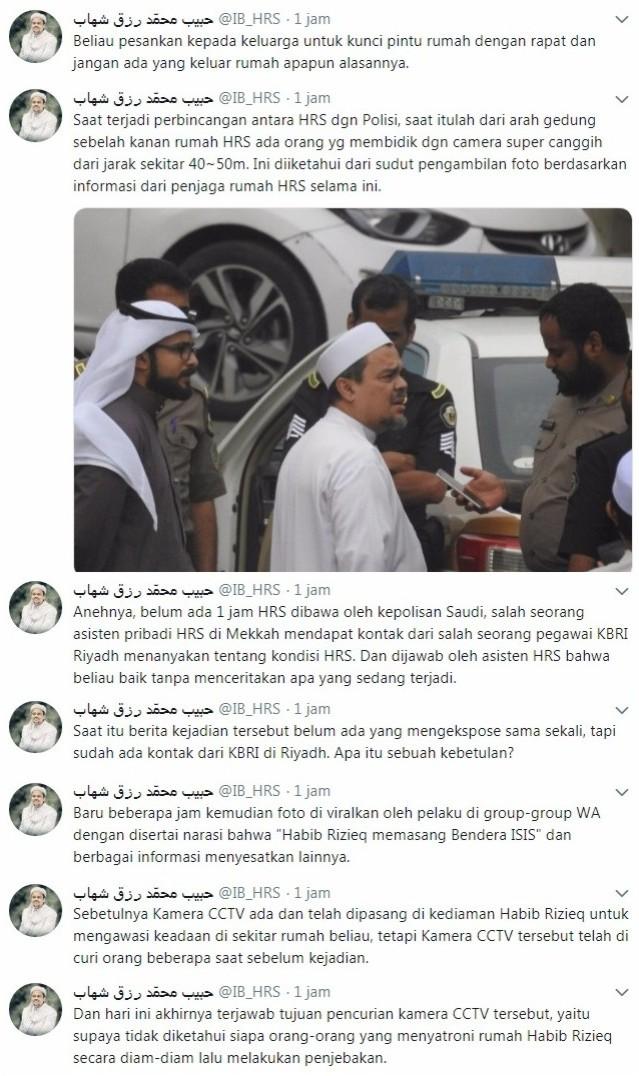 Pelaku Fitnah Terhadap Habib Rizieq Dikejar Keamanan Saudi, Terancam Hukum Pancung !