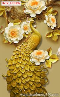 Tranh Chim Công