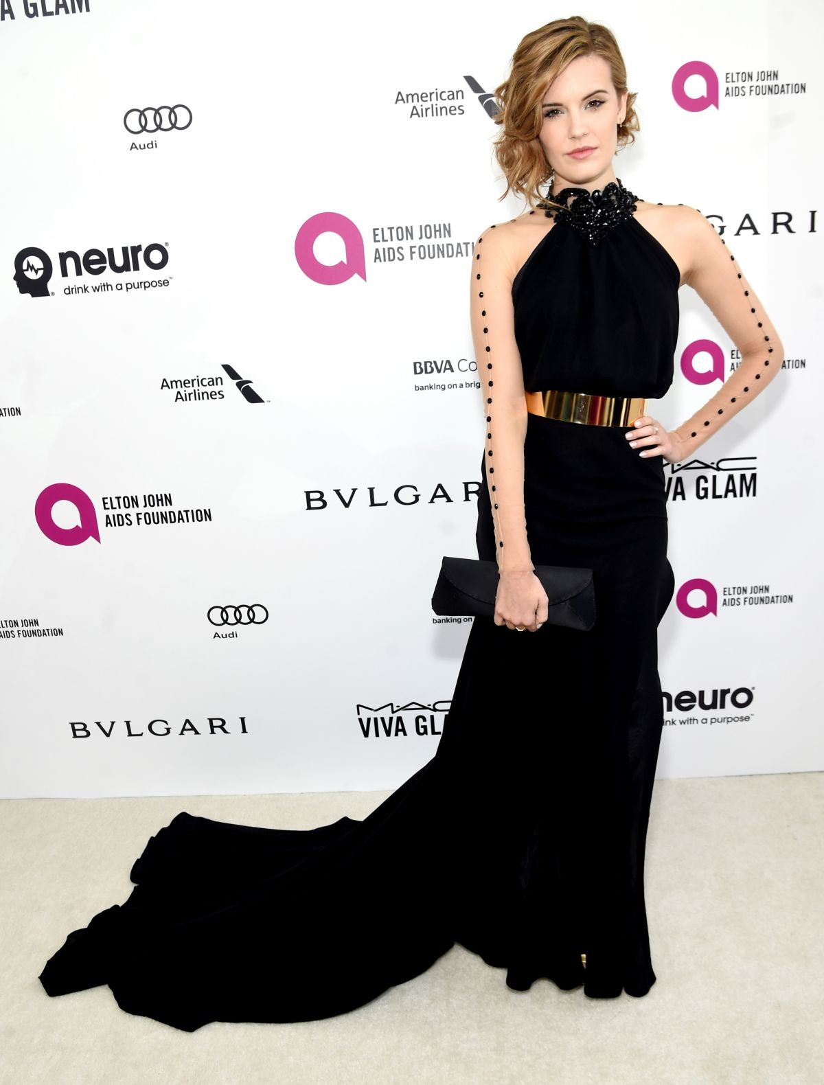 'The Choice' actress Maggie Grace at Elton John Aids Foundation's Oscar Viewing Party in West Hollywood