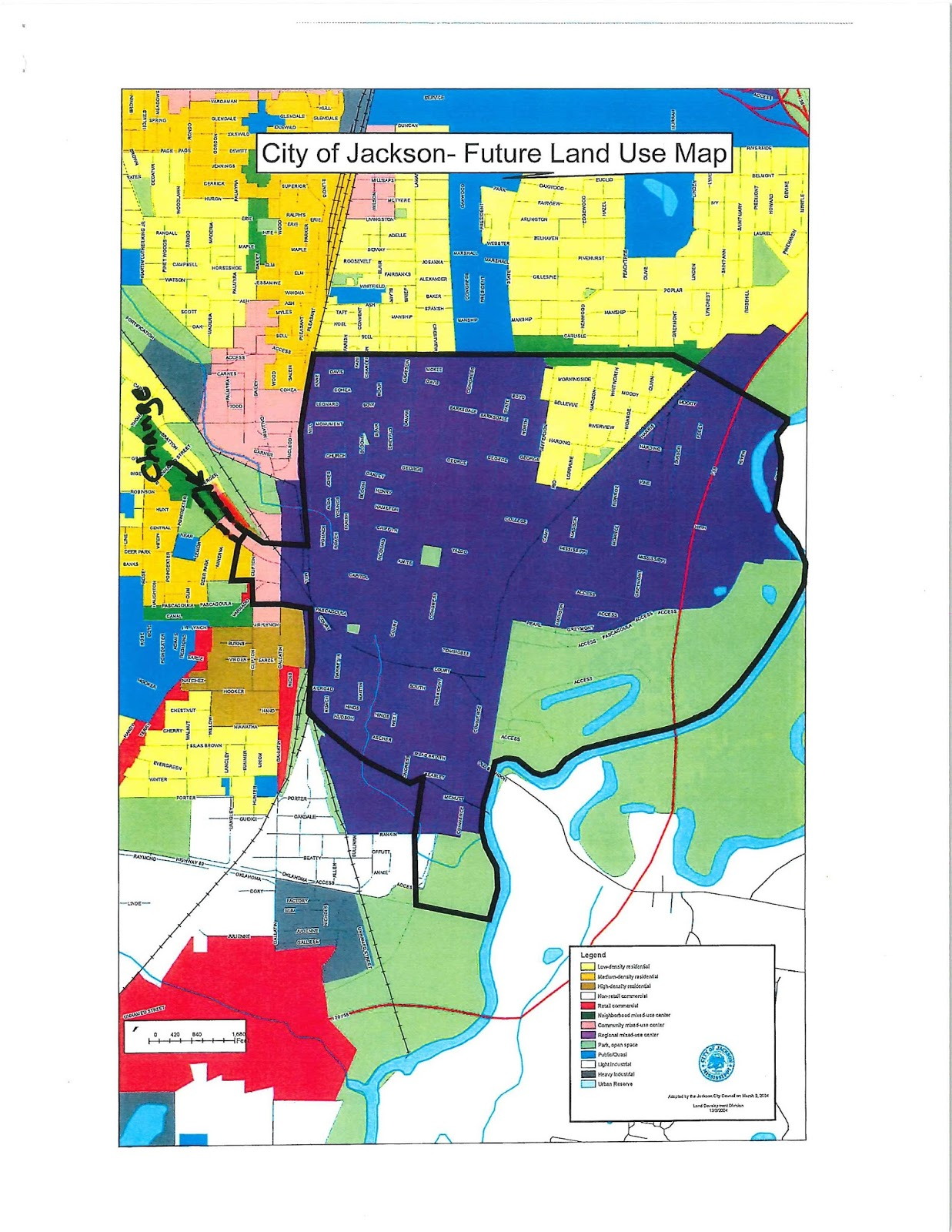 City Pearl Ms Zoning Map