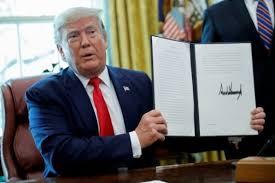 Trump, restaura las sanciones y controles de exportación de la ONU contra Irán