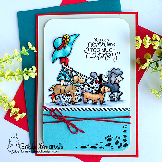 You can never have to much happy by Bobbi features Walking Woofs by Newton's Nook Designs; #newtonsnook