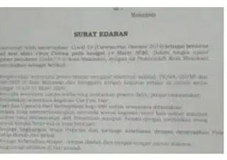 Penjabat Walikota Keluarkan Surat  Edaran Dengan Delapan Poin Penting