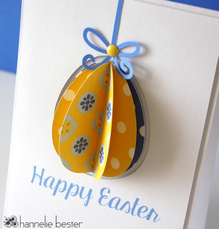 Dimensional Easter egg card