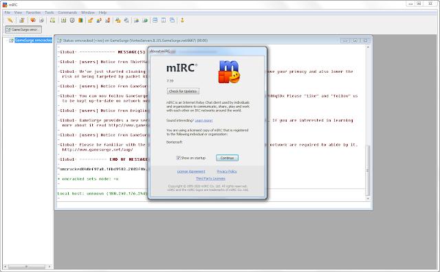 Screenshot mIRC 7.59 Full Version