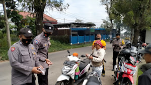 Gabungan TNI POLRI Polsek Pacet Polresta Bandung, Giat Operasi Yustisi Imbauan Prokes 5M