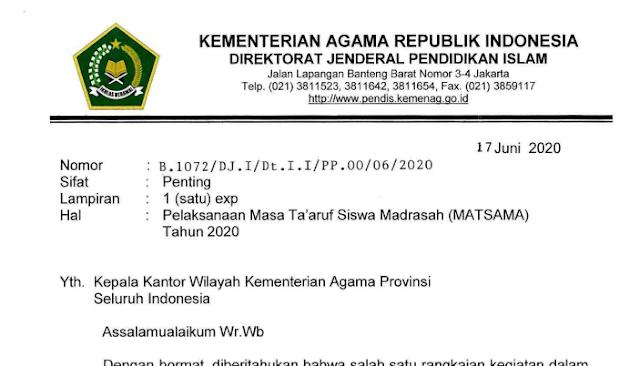 Juknis Panduan MATSAMA Tahun Pelajaran Baru 2020/2021