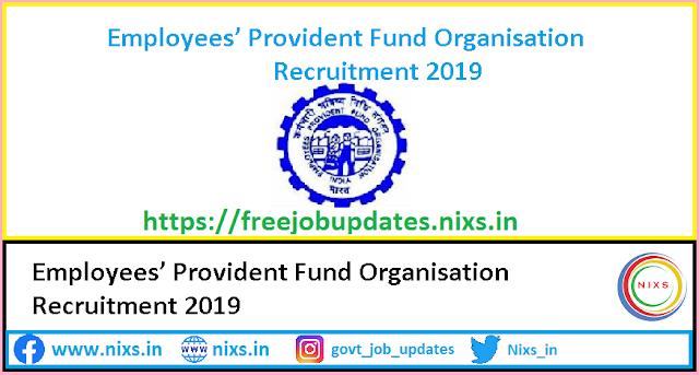 EPFO Recruitment 2019 2189 SSA Posts