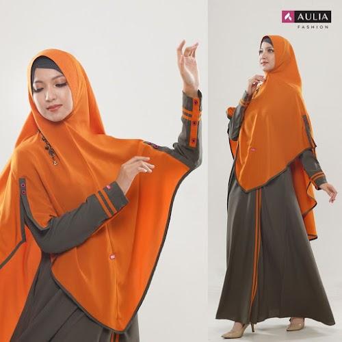 Gamis Aulia Zahwa Charcoal