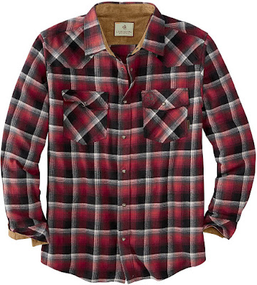 Western Plaid Flannel Shirts For Men