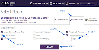 How to apply Starwood Hotels promotion code