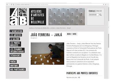 João Ferreira - Janjã | Escultura | Belleville, Paris | Portes Ouvertes 2018