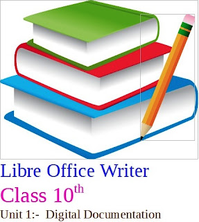 Create Templates   Table of Contents   Mail Merge   Class 10th   Libre Office Writer