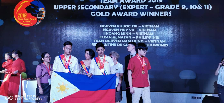 Elean Ramos Almazan wins math competition Vietnam