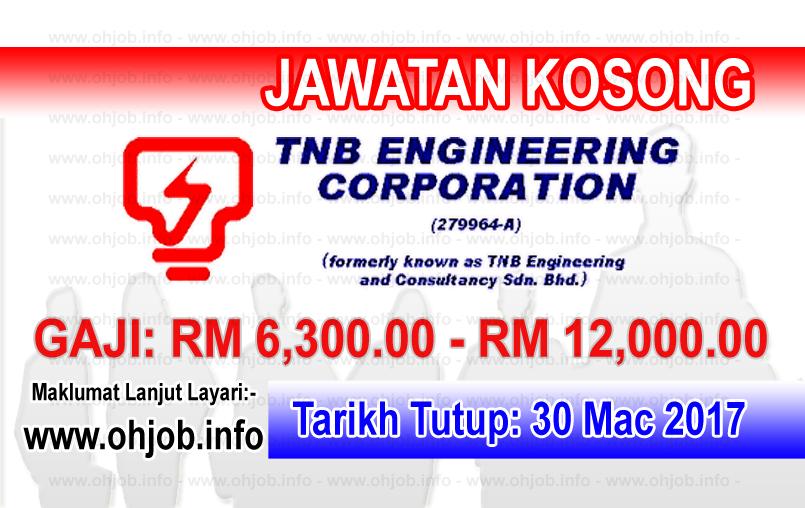 Jawatan Kerja Kosong TNB Engineering Corp logo www.ohjob.info mac 2017